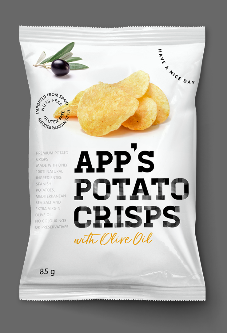 App's Diseño Packaging Snack Potato Crisps