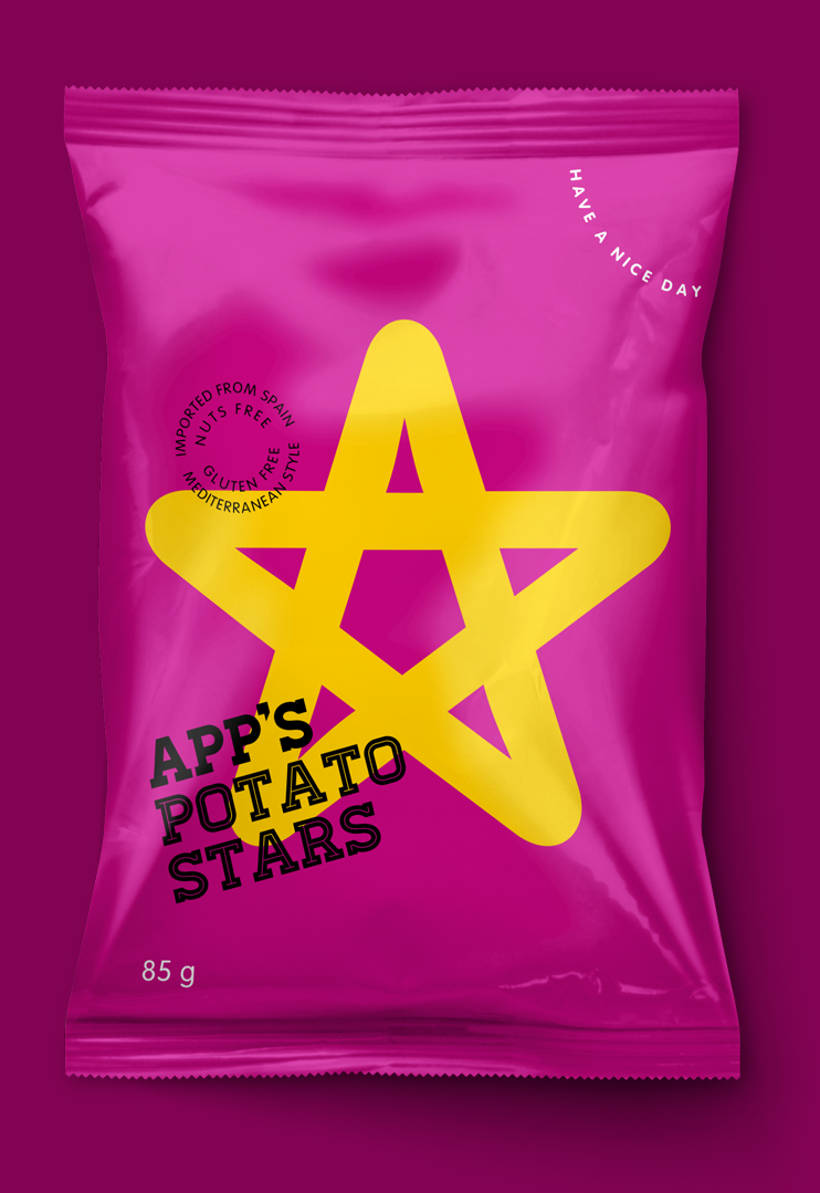 App's Diseño Packaging Snack Potato Stars