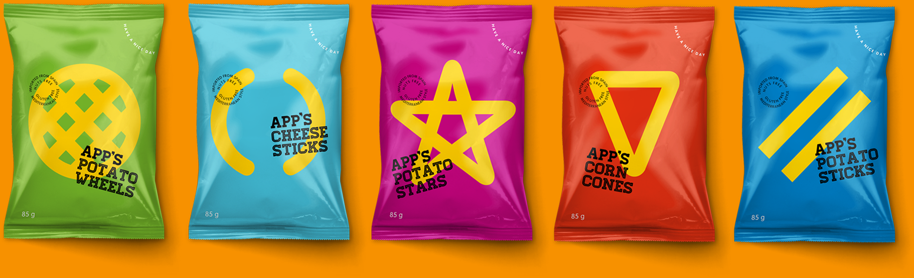 App's Diseño Packaging Snack Snacks y Aperitivos