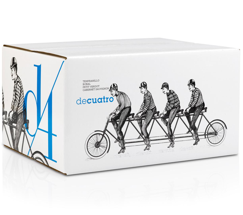 D4 Diseño Packaging Caja Vino Tinto