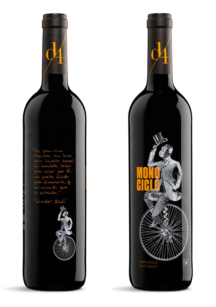 Monociclo Diseño Packaging Vino Tinto