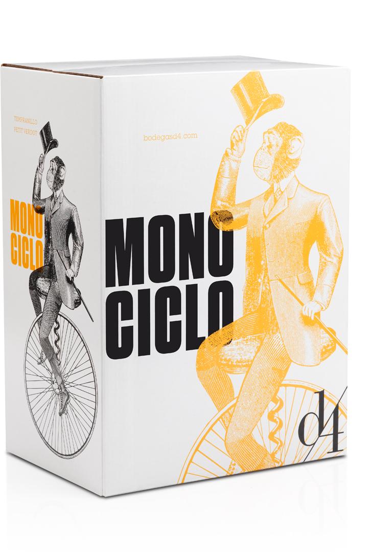 Monociclo Diseño Packaging Caja Vino Tinto