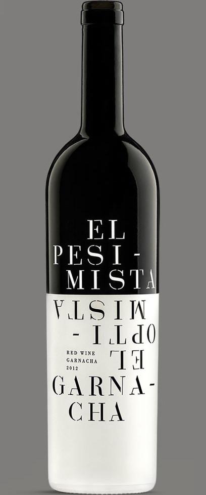 Optimista Pesimista Diseño Packaging Branding Naming Vino Tinto Garnacha