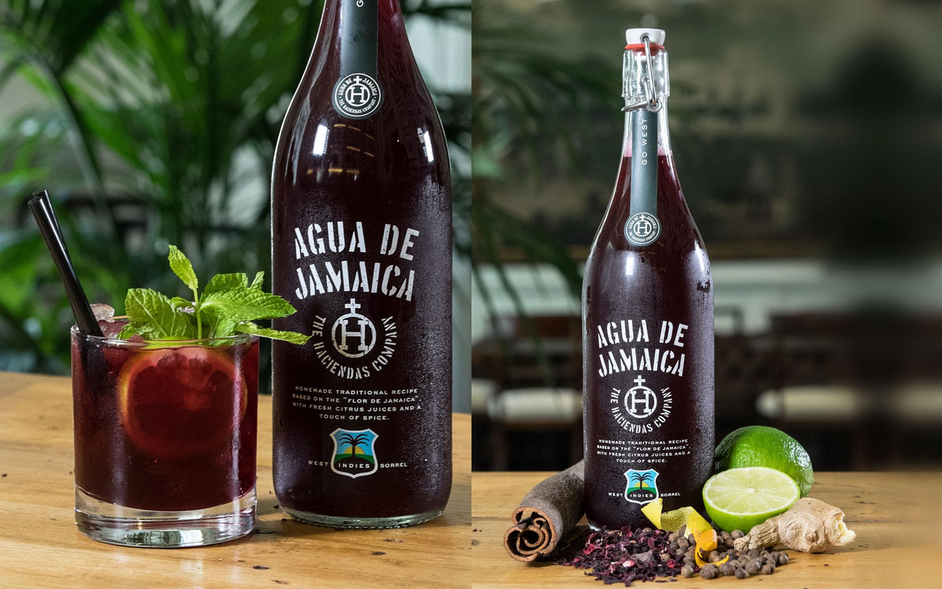 Agua de Jamaica Diseño de Packaging Té de hibisco y cítricos