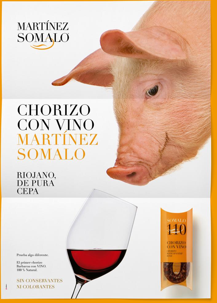 Cartel Martínez Somalo 110 Chorizo con Vino