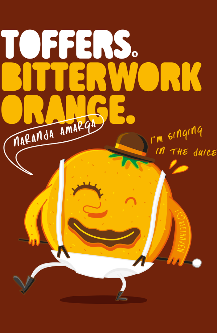 Toffers Diseño Packaging Branding Ilustración Caramelos Toffee Sabor Naranja Amarga Bitterwork Orange
