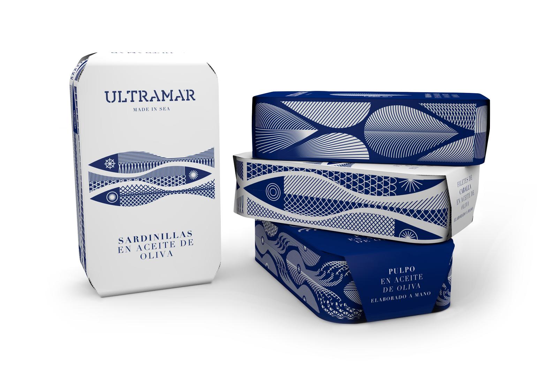 Ultramar Diseño Packaging Latas de Conservas Premium Sardinillas en Aceite de Oliva