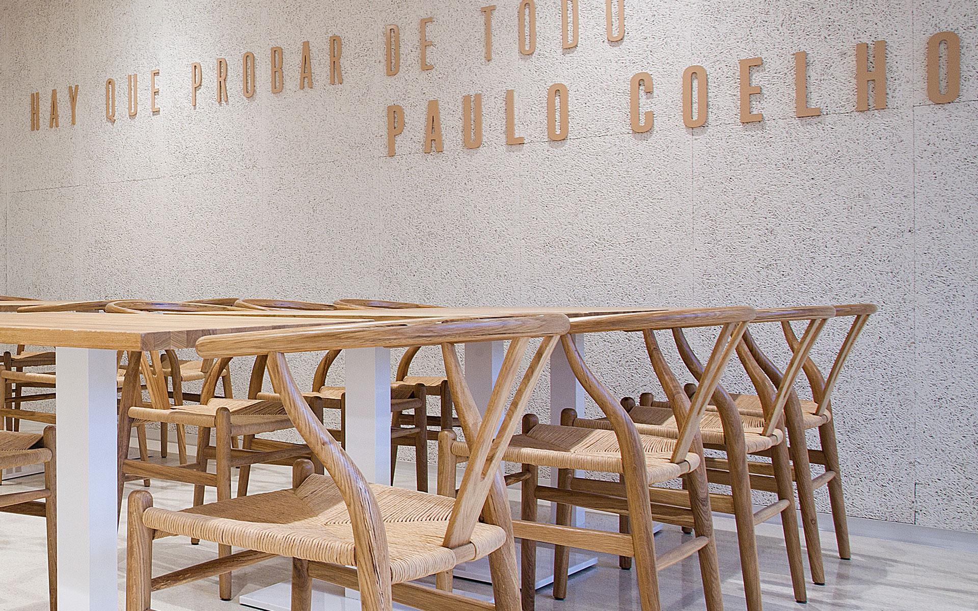 Catedral Gastrobar Gráfica Aplicada Hay que probar de todo Paulo Coelho