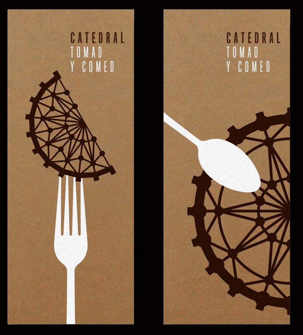 Catedral Gastrobar Diseño Gráfica Aplicada Cartas Menú Tomad y Comed