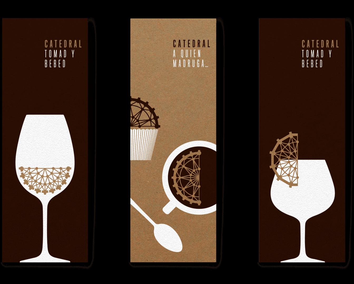 Catedral Gastrobar Diseño Gráfica Aplicada Cartas Vinos Cocktail Desayunos