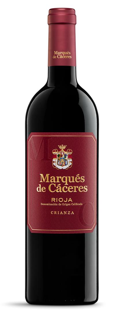 Rediseño Marqués de Cáceres Restyling Etiqueta Vino Tinto Rioja Crianza