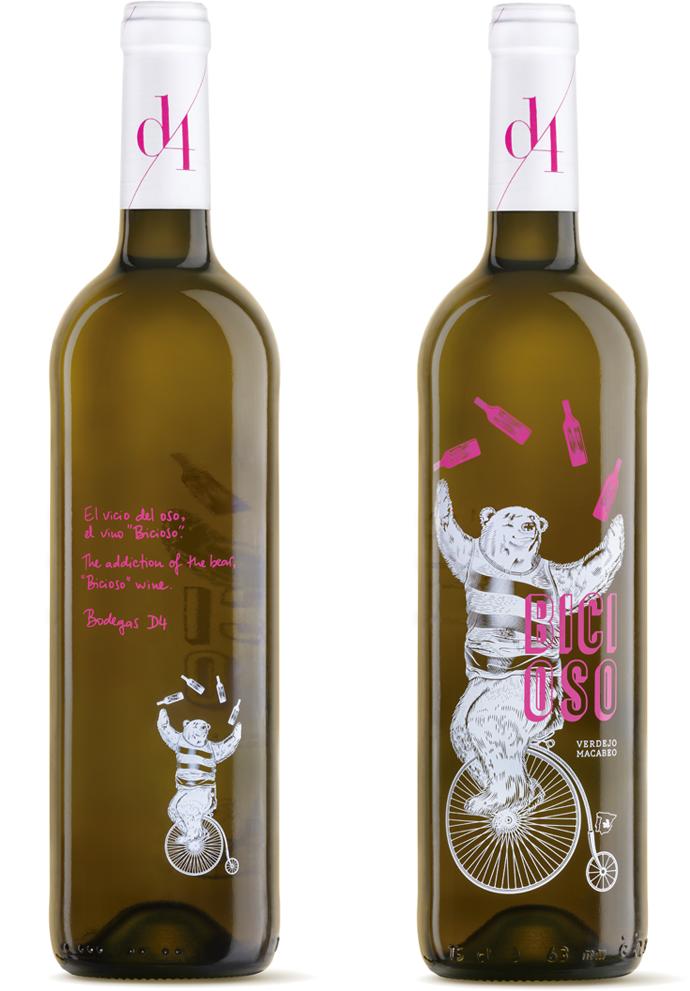 Bicioso Diseño Packaging Vino Blanco Verdejo Macabeo