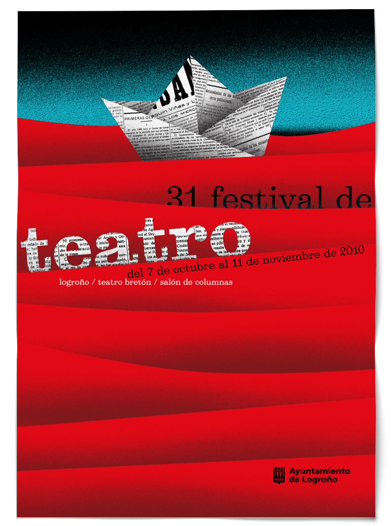 Cartel 31 Festival de Teatro Logroño Teatro Bretón Salón de Columnas