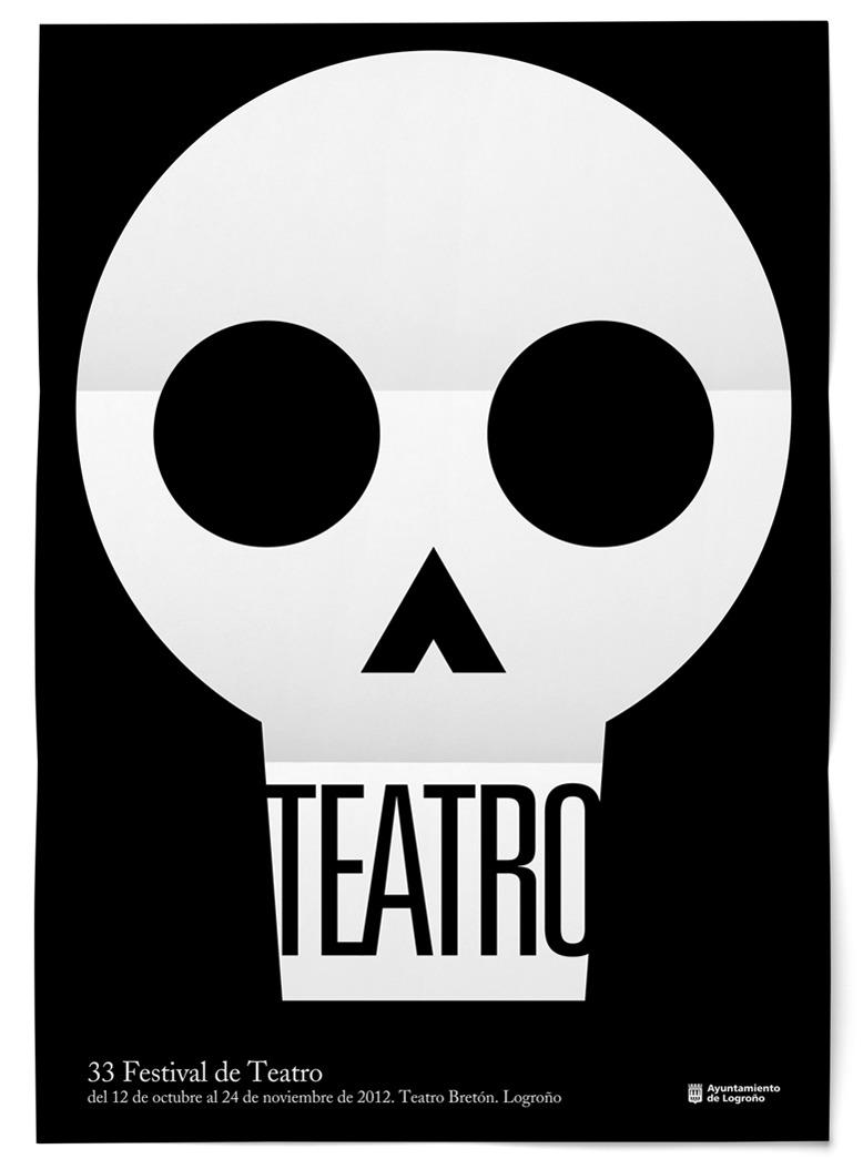 Cartel 33 Festival de Teatro de Logroño Teatro Bretón