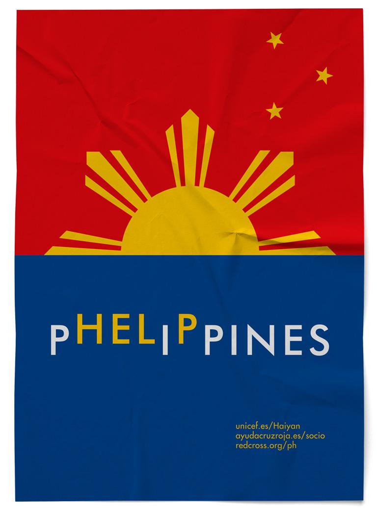 Cartel Phelippines Filipinas Unicef Cruz Roja Red Cross