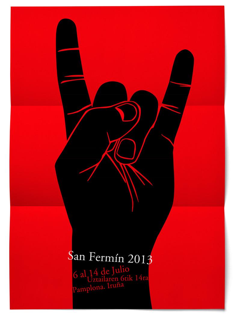 Cartel San Fermín 2013