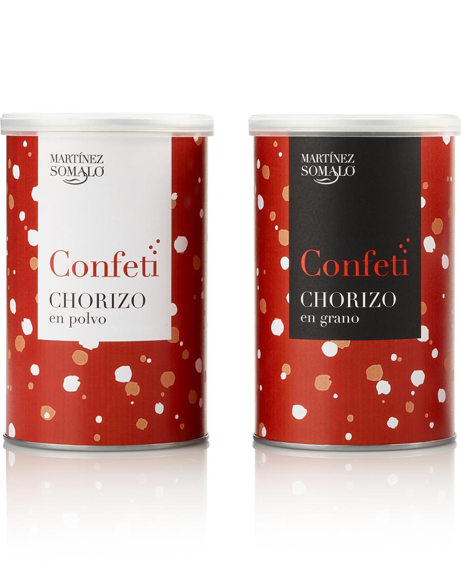 Martínez Somalo Diseño Packaging Confeti de Chorizo en Polvo y en Grano