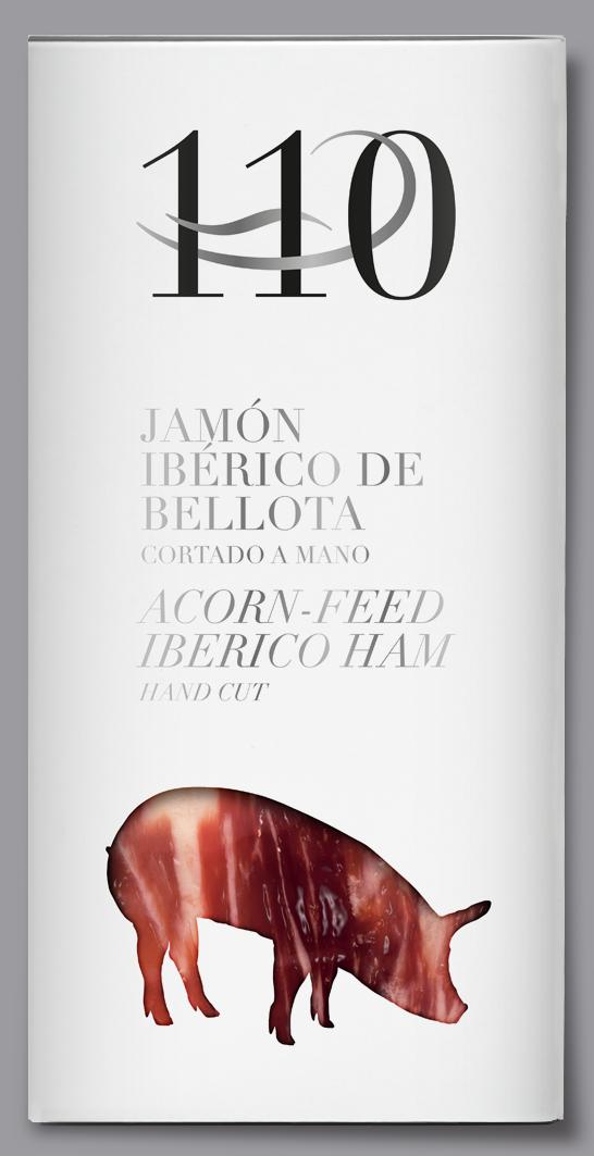 Martínez Somalo 110 Diseño Packaging Jamón Ibérico de Bellota Cortado a mano