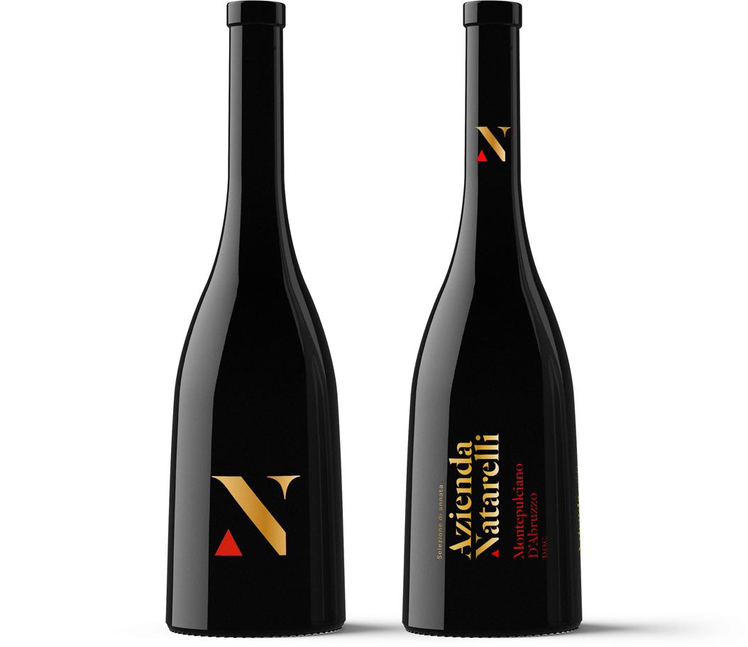 Azienda Natarelli Diseño Packaging Vino Tinto Montepulciano d'Abruzzo