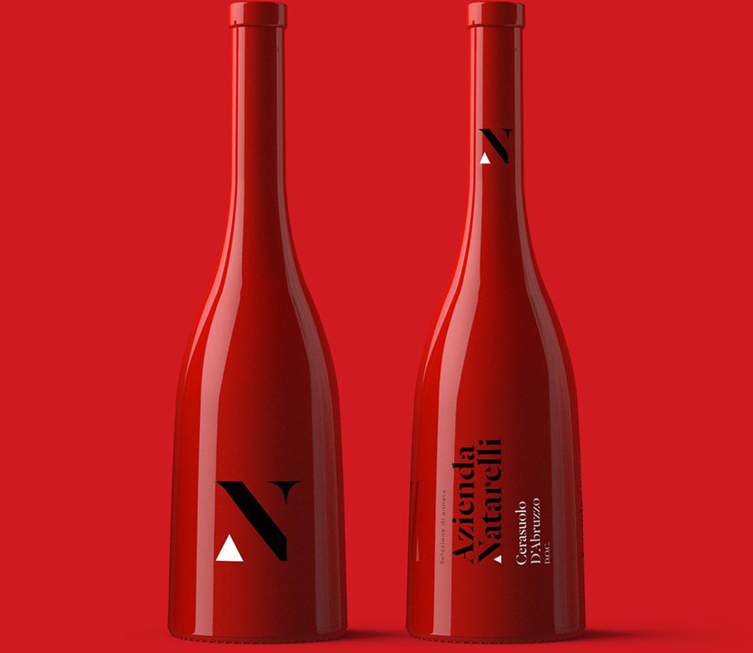 Azienda Natarelli Diseño Packaging Vino Rosado Cerasuolo d'Abruzzo