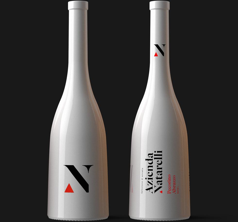 Azienda Natarelli Diseño Packaging Vino Blanco Pecorino Abruzzo